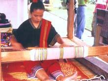 Ikat Traditional hand Weaving