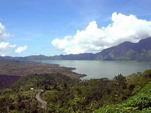 Kintamani with the View of Mount and Lake Batur